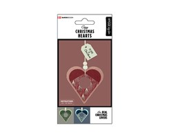 Modern Christmas Hearts 6pcs.