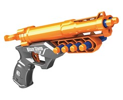 Manual soft dart gun w/5pcs darts orange