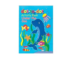 Malebog dot-to-dot A4 Under The Sea 16 sider